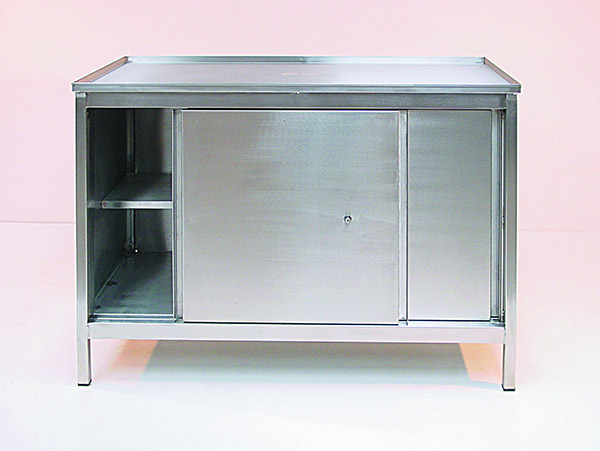 Stainless Steel Cupboard Bench by Step and Store
