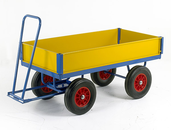 Turntable Trailer 1200 x 600 with Drop Down Steel Sides by Step and Store
