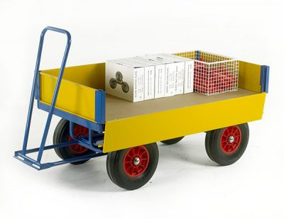 Turntable Trailer 2000 x 1000 with Drop Down Steel Sides by Step and Store