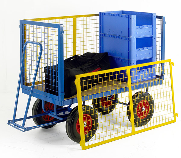Turntable Trailer 1500 x 750 with High Mesh Cage Supports by Step and Store
