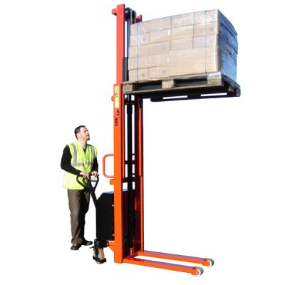 Electric Lift Pallet Stackers by Step and Store