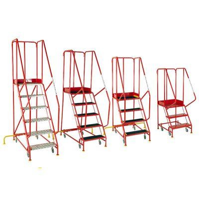 Redhill BSI Kitemark EN131-7 mobile steps ladders