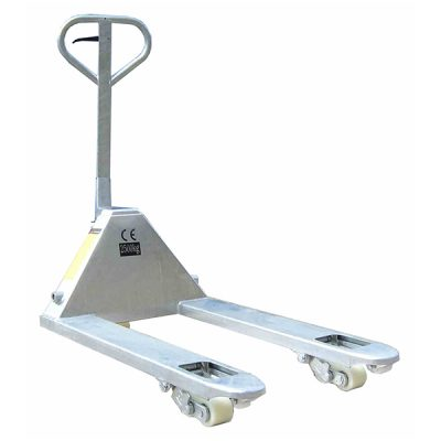 Galvanised Pallet Truck by Step and Store