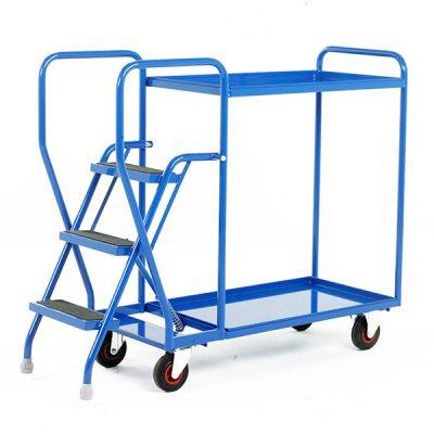 Heavy Duty Step Tray Trolley - 3 Step