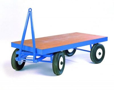 Heavy Duty Turntable Towing Trailer by Step and Store